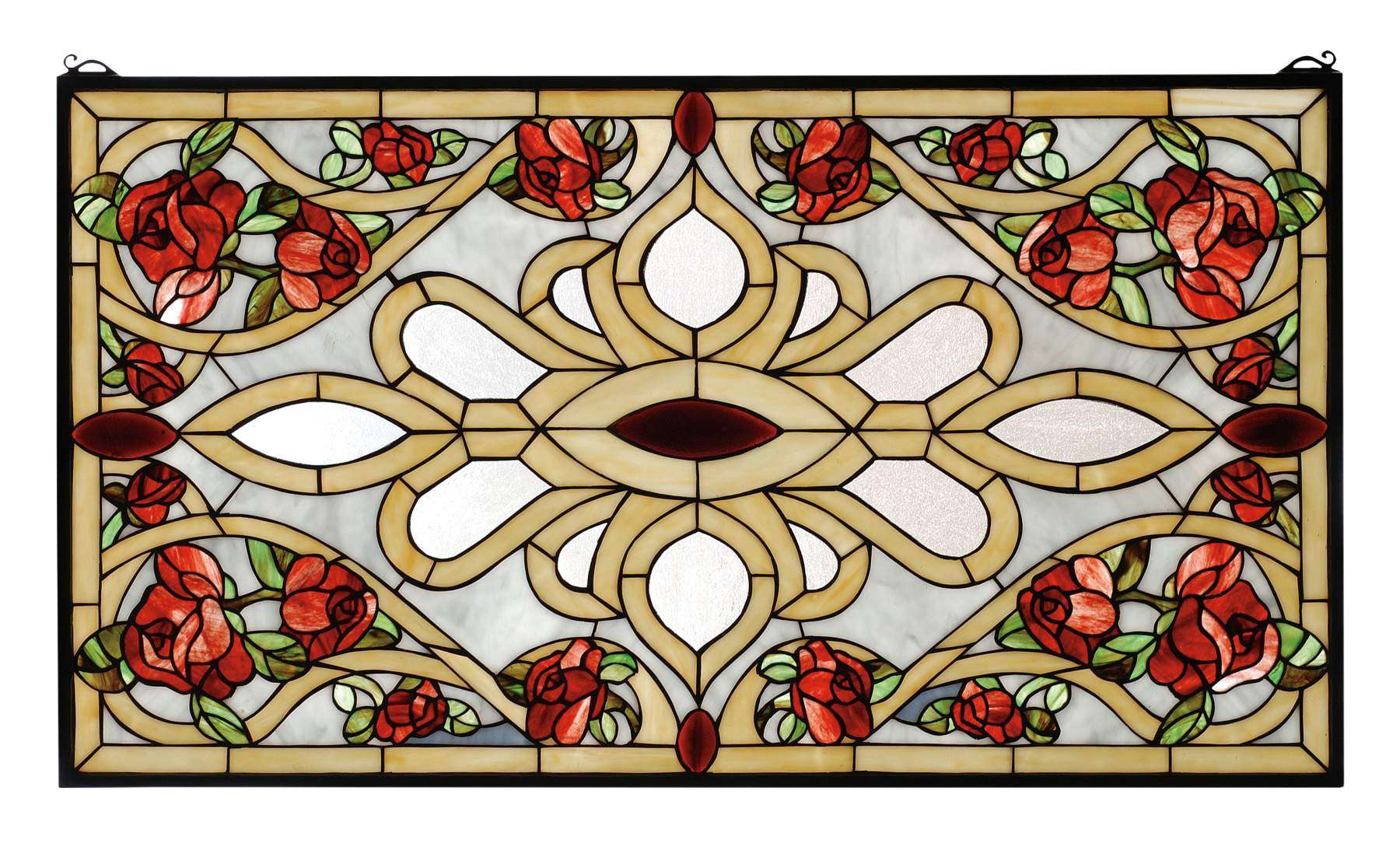 Meyda Tiffany 67139 Bed Of Roses Stained Glass Window in Copperfoil finish