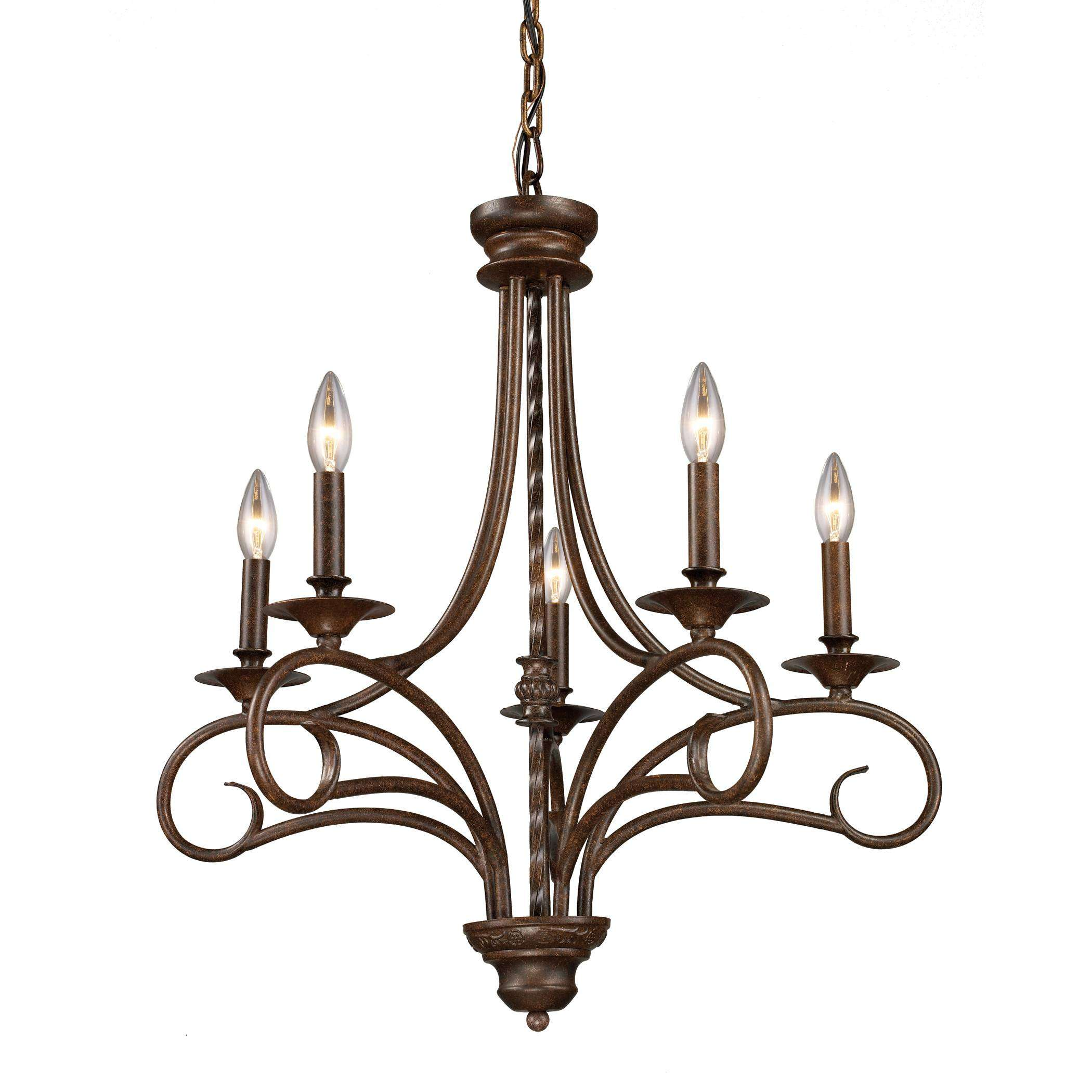 Elk Lighting 15042/5 Gloucester 5-Light Chandelier In Antique Bronze