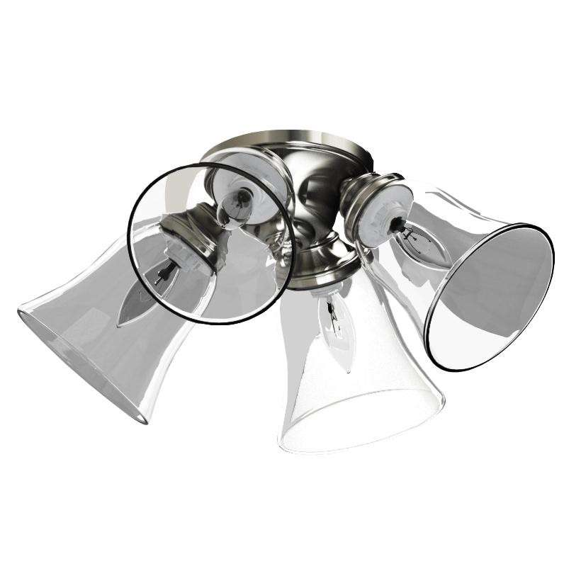 Fanimation G4CL Ceiling Fan Glass Clear Bell Shaped for 2.25 Fitters