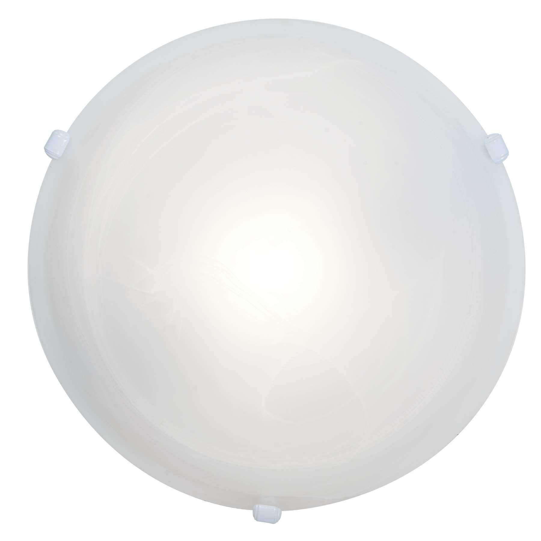 Access Lighting 50050-WH/ALB Nimbus Flush-Mount in White finish with Alabaster glass