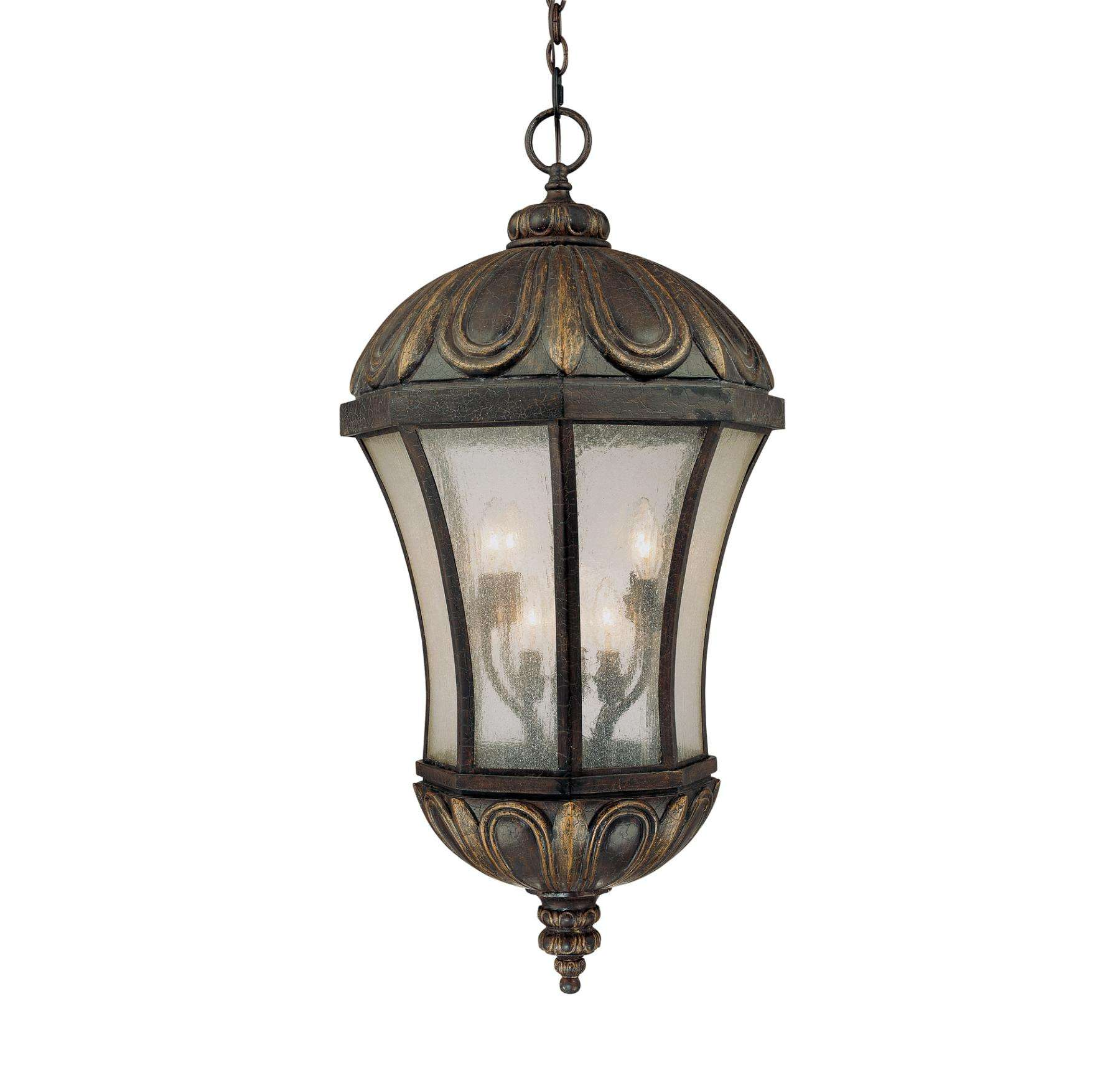 Savoy House 5-2505-306 Ponce de Leon Hanging Lantern in Old Tuscan Finish with Pale Cream Seeded glass