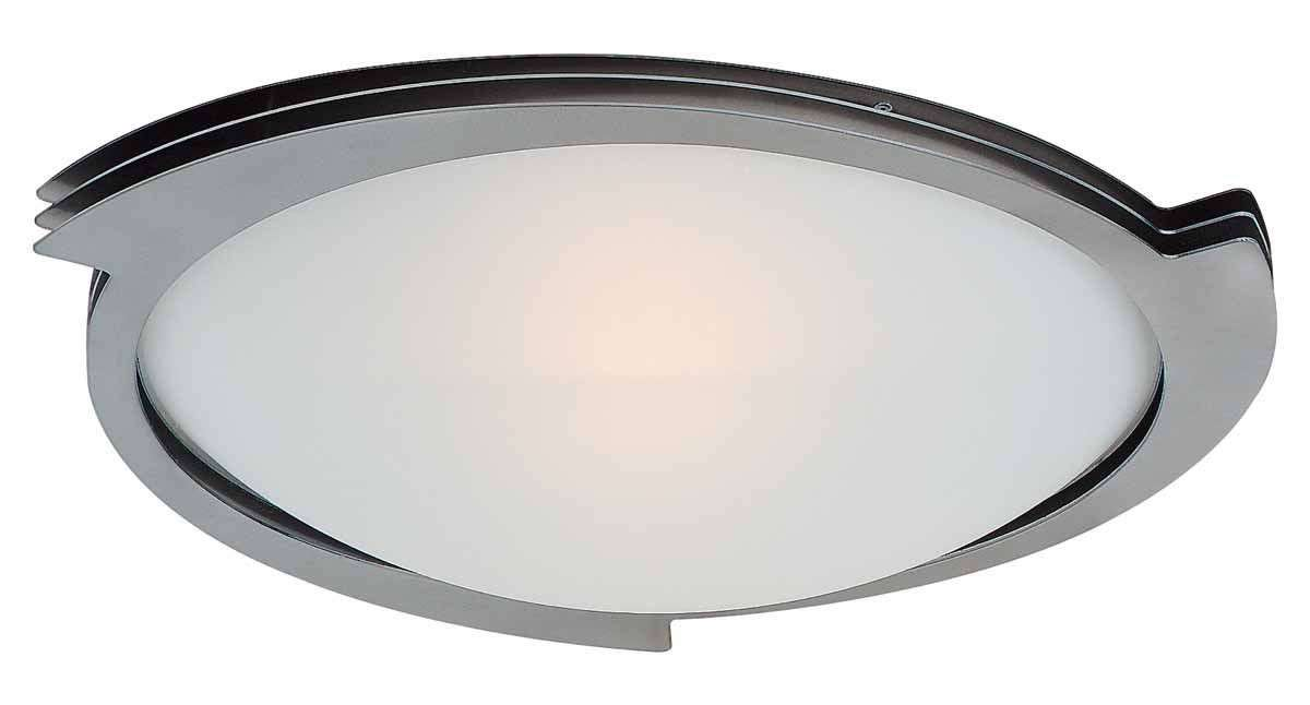 Access Lighting 50071-BS/FST Triton Flush-Mount in Brushed Steel finish with Frosted glass