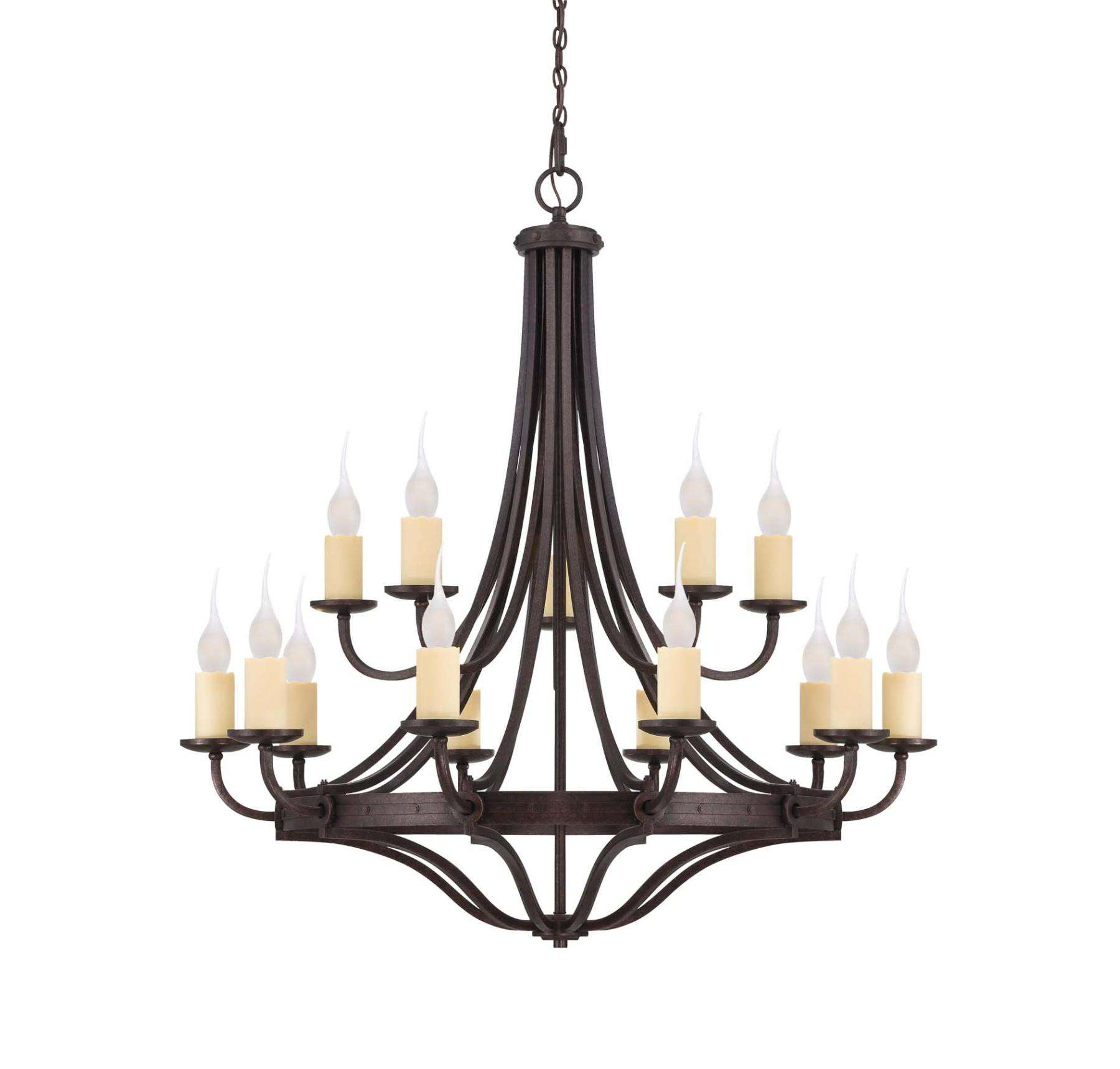 Savoy House 1-2014-15-05 15 Light Chandelier in Oiled Copper finish