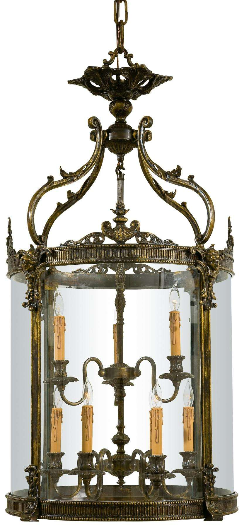 Metropolitan N952009 Nine Light Foyer Pendant in Oxide French Gold finish with Clear Glass