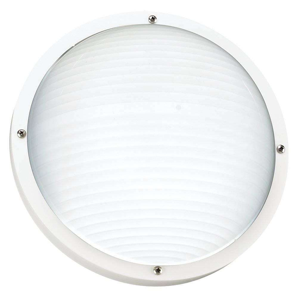 Seagull Lighting 83057BLE-15 One Light Outdoor Fluorescent Bulkhead Wall/Ceiling Fixture in White Finish; ENERGYSTAR Compliant