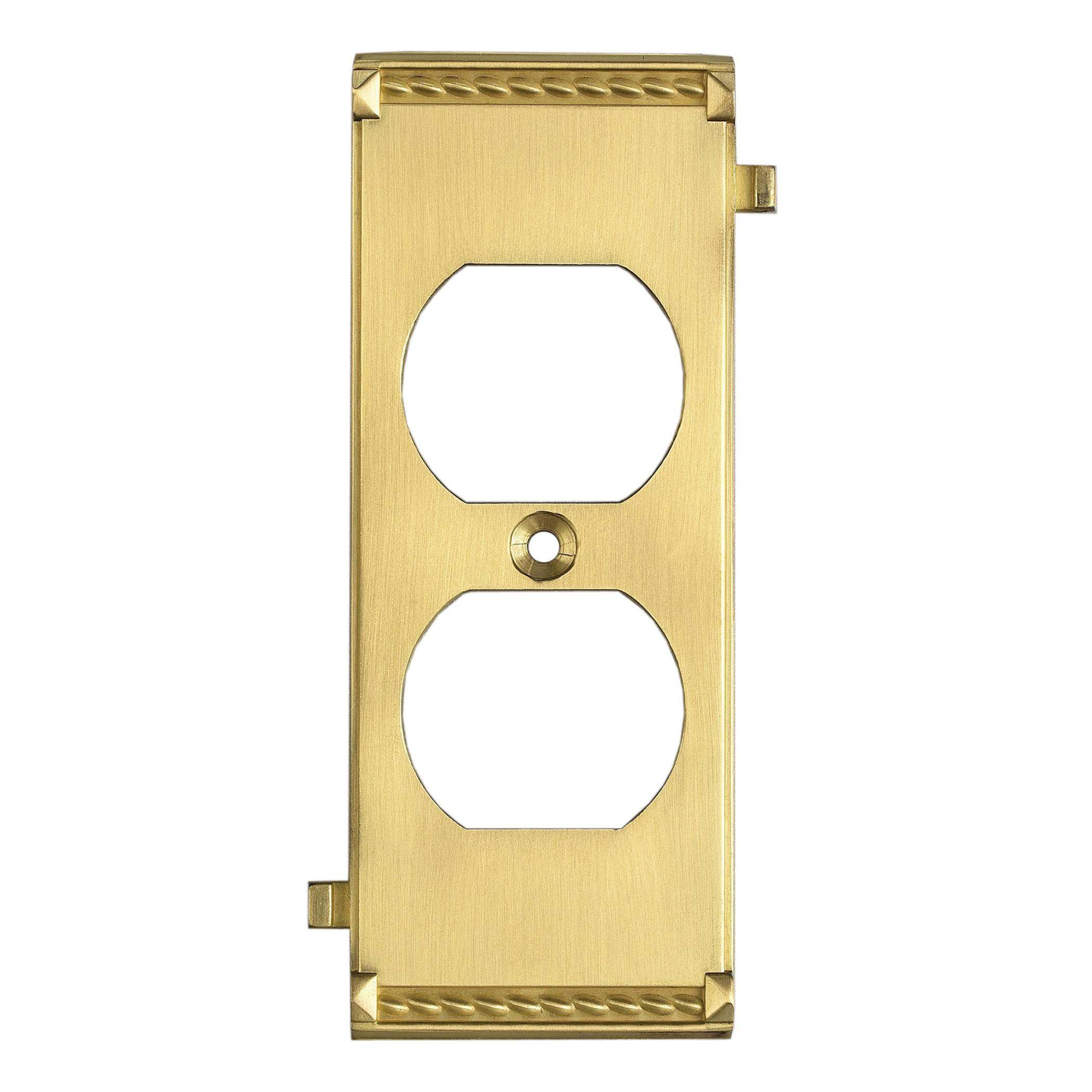 Elk Lighting 2503BR Brass Middle Switch Plate