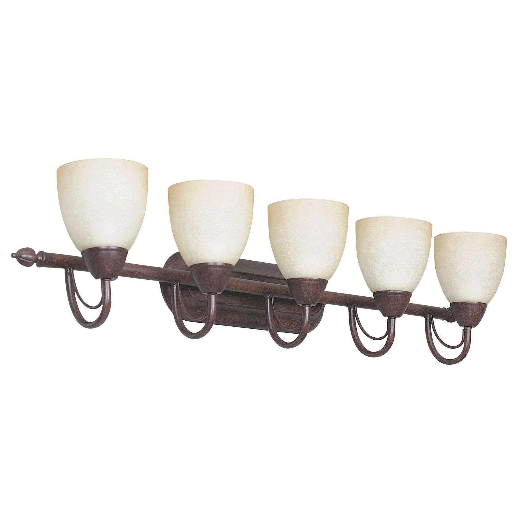 Sunset Lighting F2495-62 36 inch 5-light Tempest Vanity in Rubbed Bronze Finish