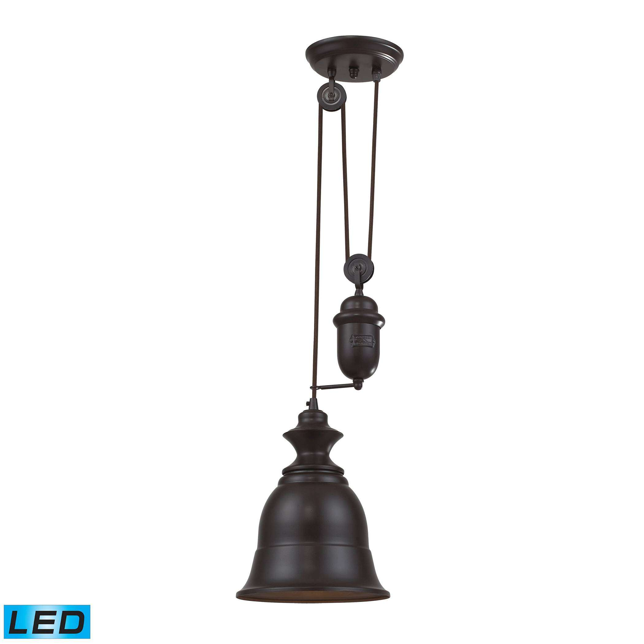 Farmhouse OiLED Bronze Pendant - LED Offering Up To 800 Lumens (60 Watt Equivalent) With Full Ran…