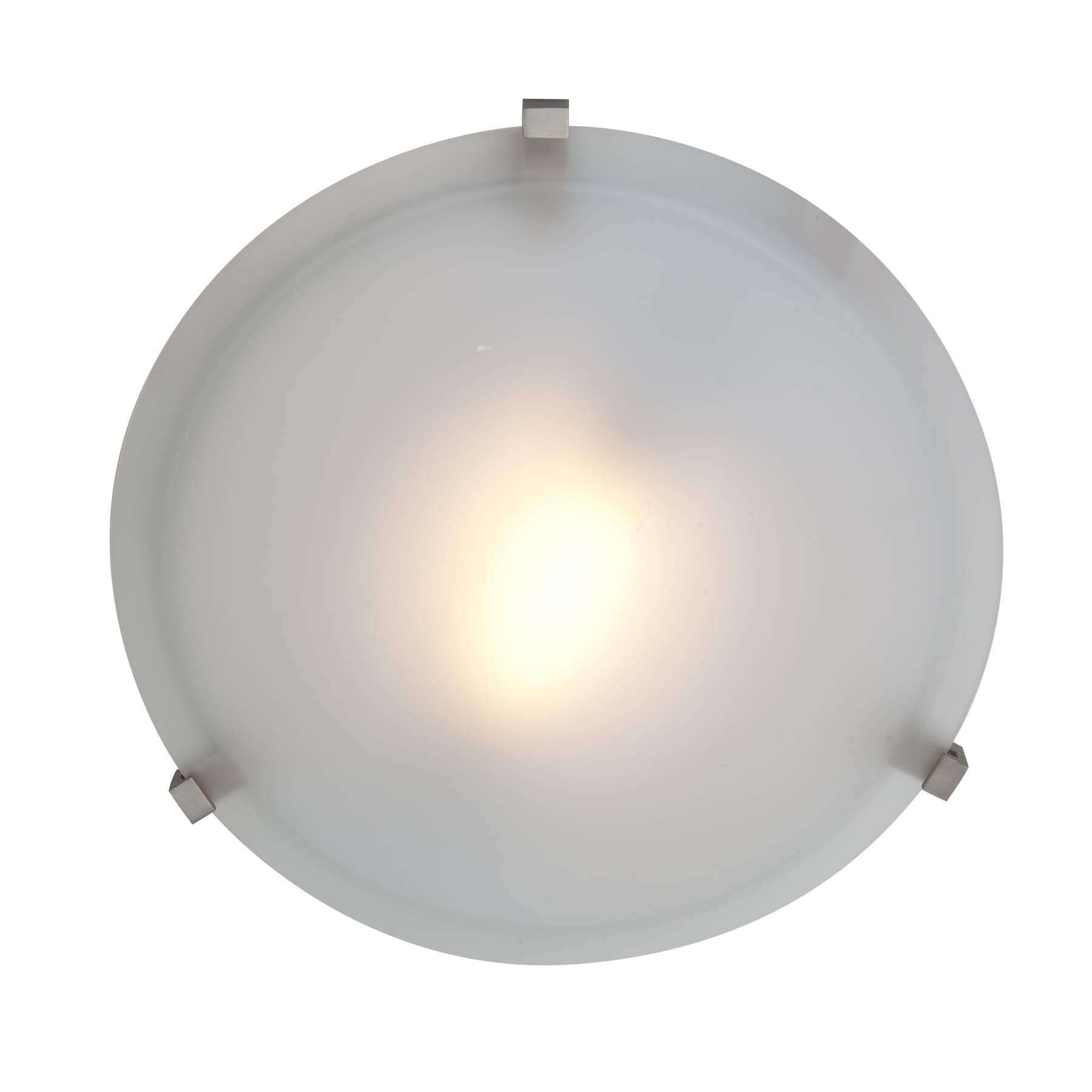 Access Lighting 50063-SAT/FST Cirrus Flush-Mount in Satin finish with Frosted glass