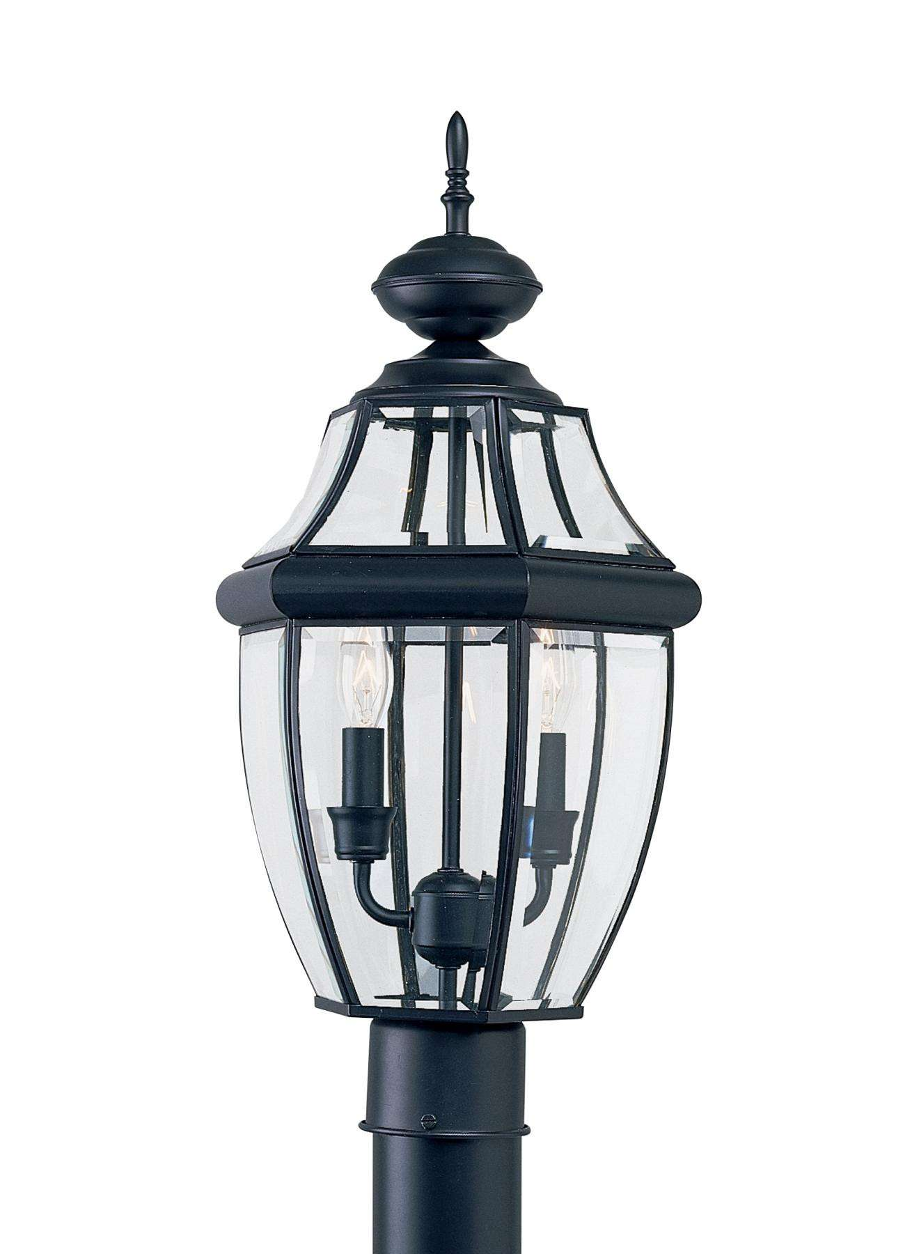 Seagull Lighting 8229-12 Two-Light Lancaster Black Post Lantern in Black finish