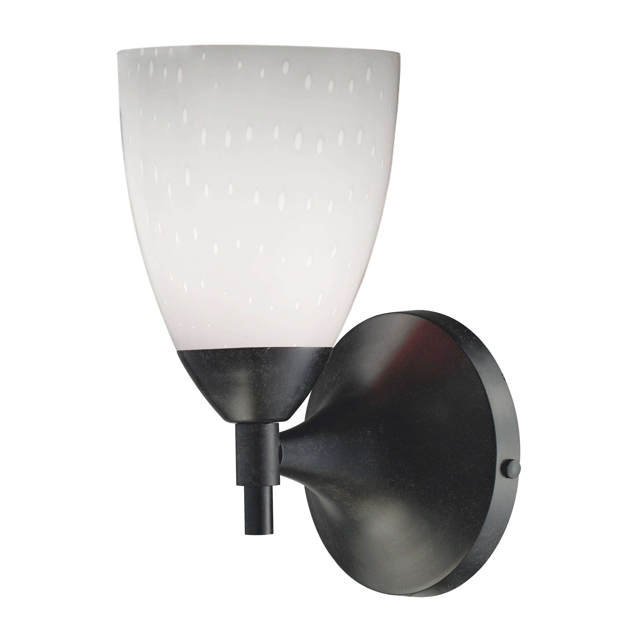 Elk Lighting 10150/1DR-WH Celina 1-Light Sconce In Dark Rust And Simple White Glass