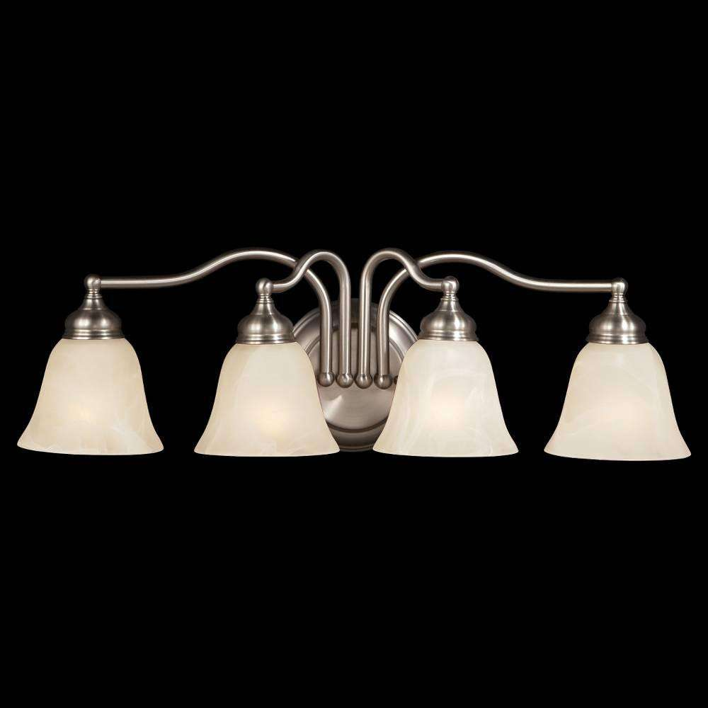 Murray Feiss VS6704-PW Bristol Vanity Strip in Pewter finish with White Alabaster Glass Shade