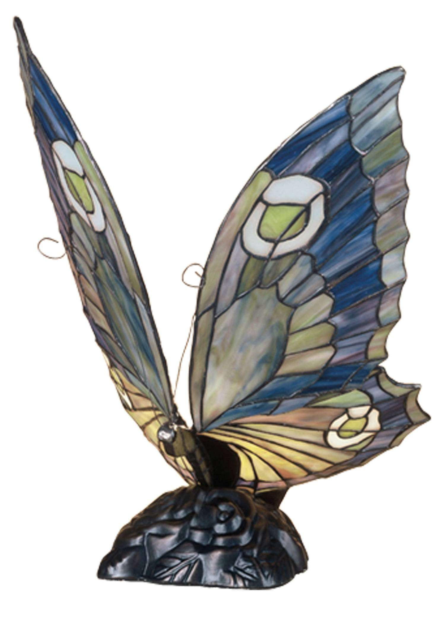 Meyda Tiffany 48017 Butterfly Accent Lamp in Copperfoil finish