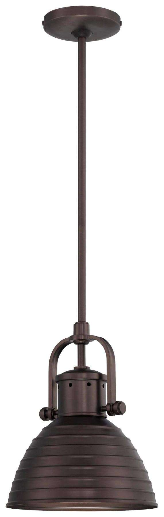 Minka Lavery 1 Light Pendant In Harvard Court Bronze Finish W/ Metal Shade