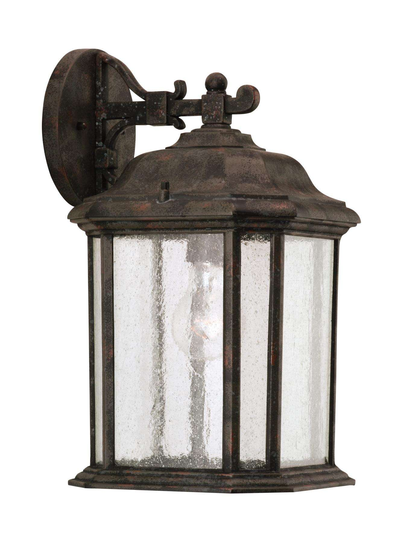 Seagull Lighting 84031-746 Single-Light Kent Outdoor Wall Lantern in Oxford Bronze finish