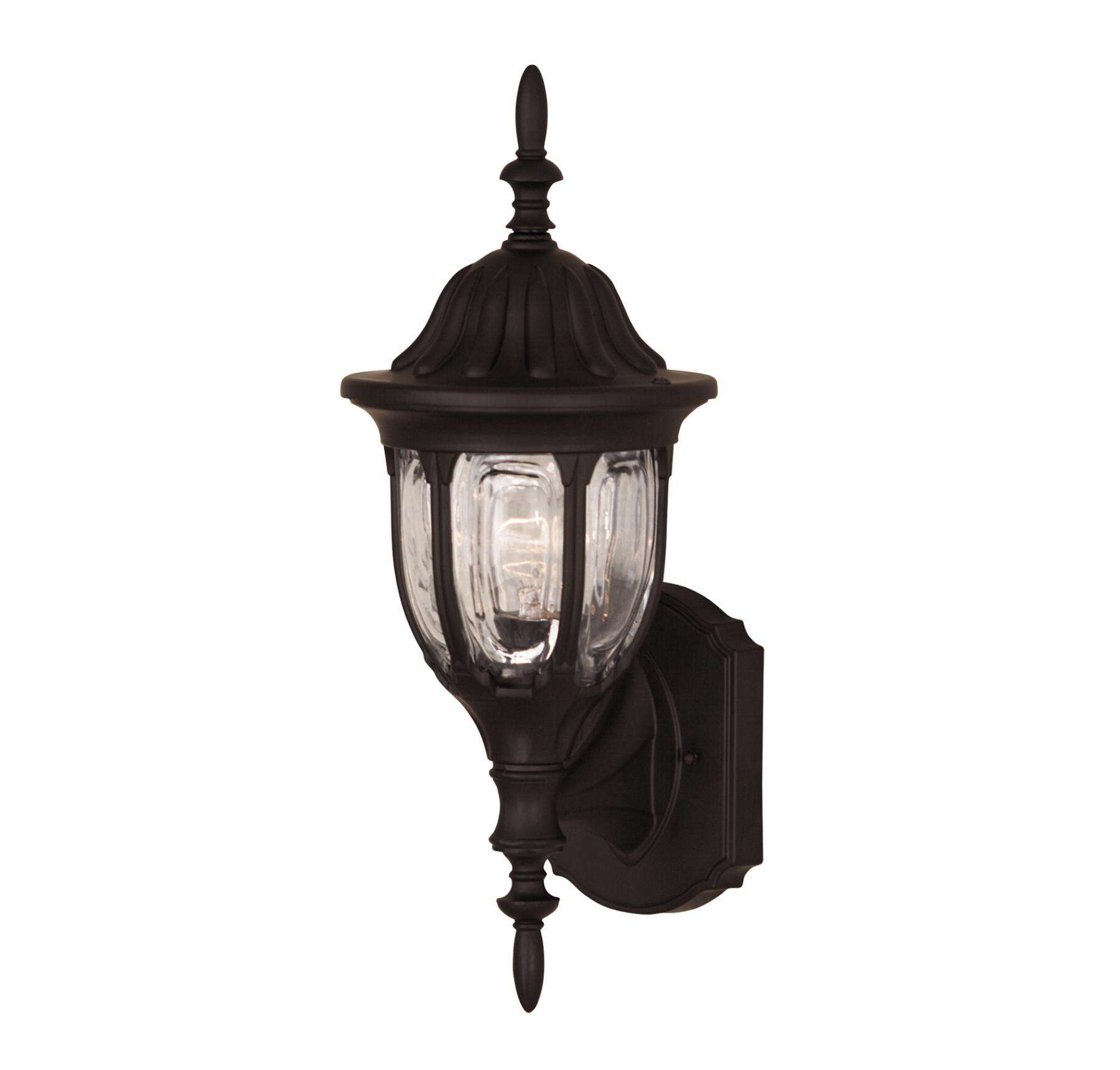Savoy House 07068-BLK Exterior Collections Wall Mount Lantern in Black Finish with Clear glass