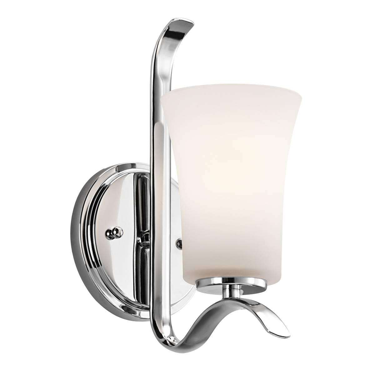 Kichler 45374CH Wall Sconce 1Lt in Chrome.