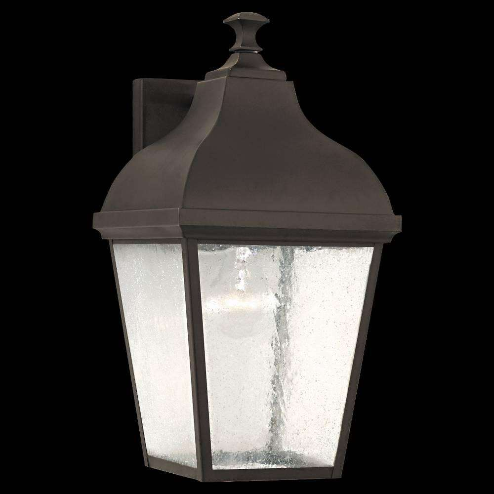 Murray Feiss OL4002ORB Terrace Outdoor Lantern- Wall Brkt in Oil Rubbed Bronze finish with Clear Seeded Glass