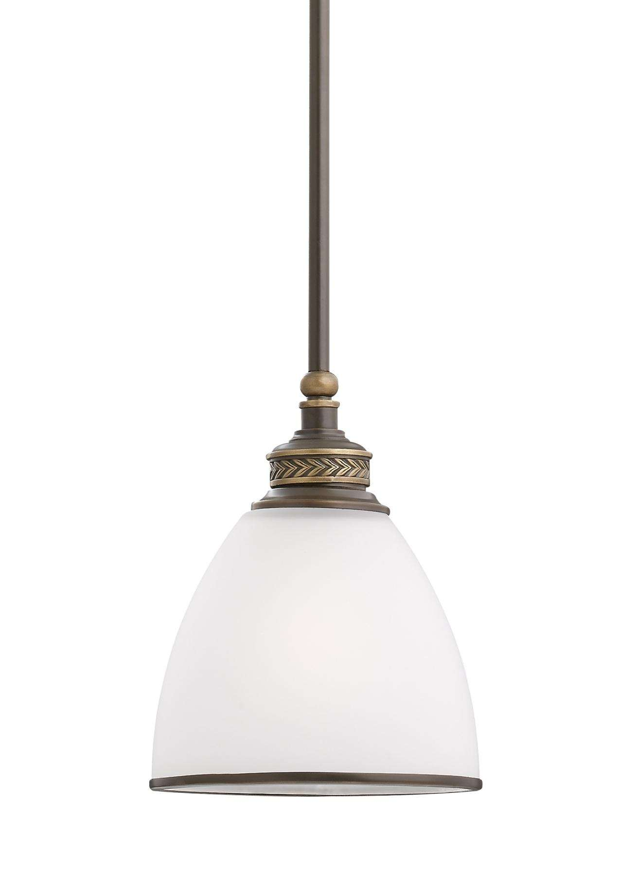 Seagull Lighting 61350-708 One Light Mini-Pendant in Estate Bronze finish