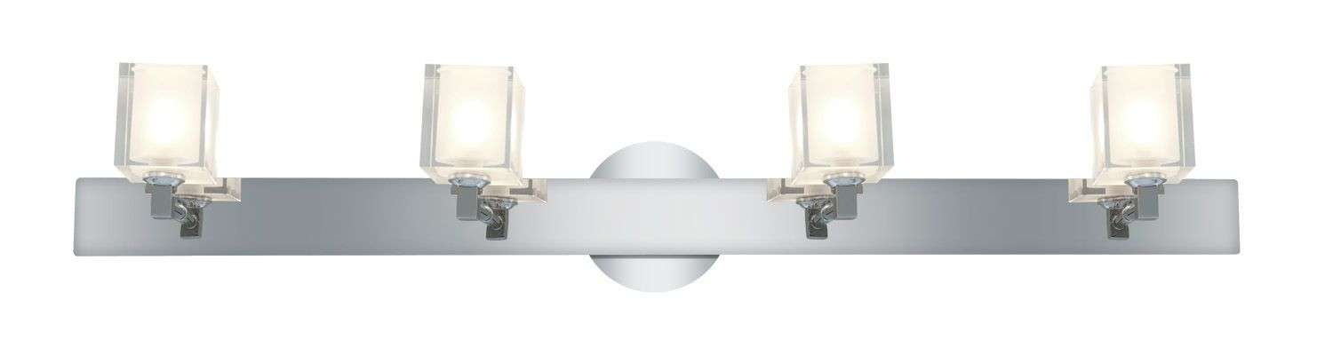 Access Lighting 23918-CH/FCL Glase Crystal Chrome Wall/Vanity in Chrome finish with Inner Frosted Crystal glass