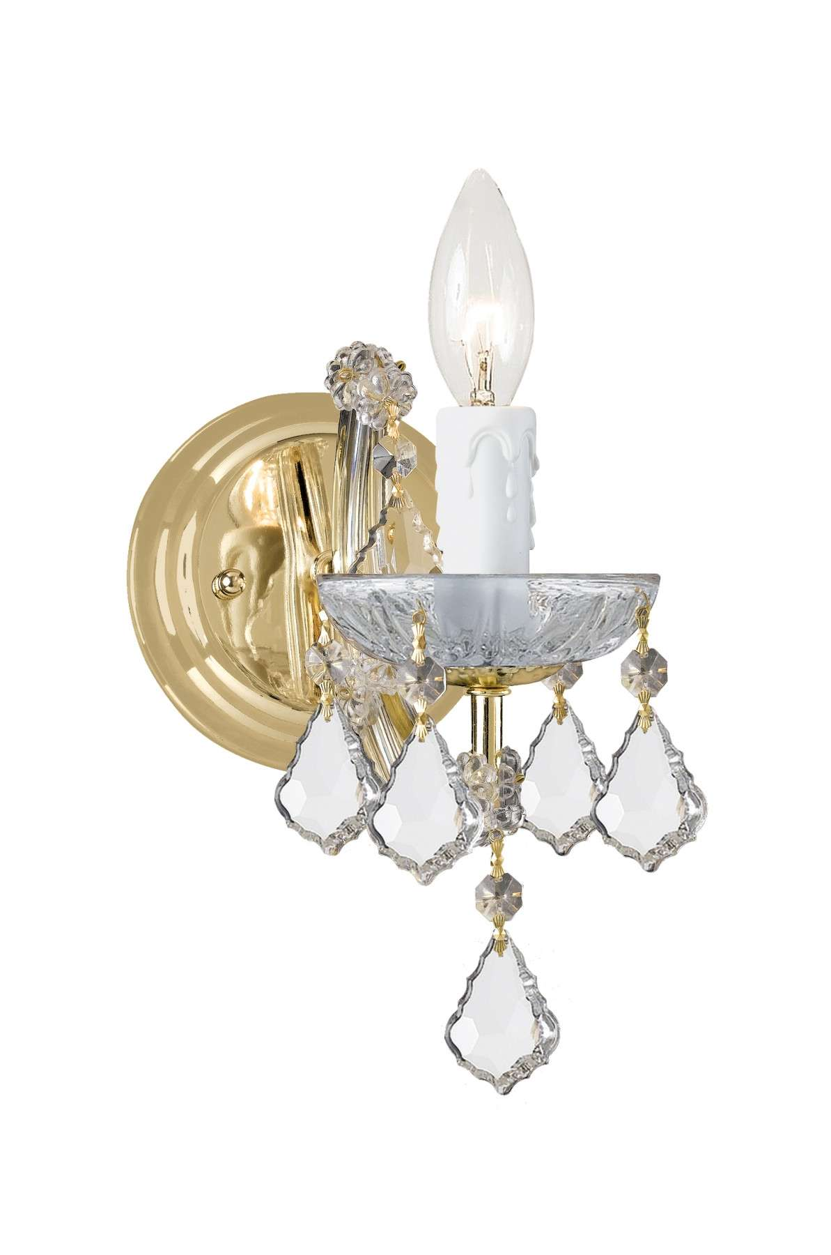Crystorama 4471-GD-CL-S Maria Theresa Wall Mount Draped in Swarovski Elements Crystal