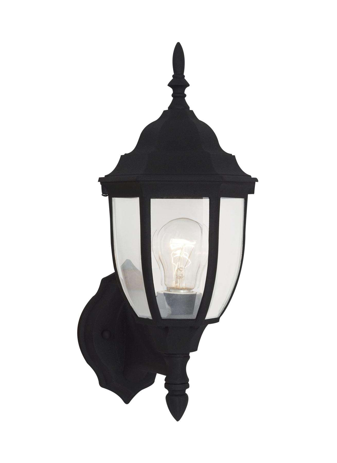 Seagull Lighting 88940-12 One Light Outdoor Wall Lantern in Black finish