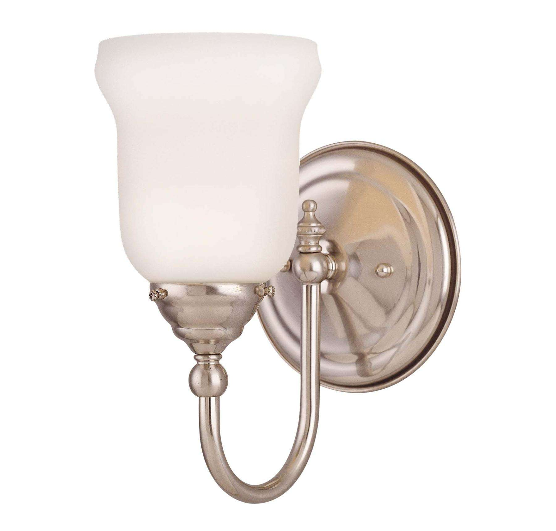 Savoy House 1062-1-SN Brunswick Bath 1 Light Sconce in Satin Nickel Finish (glass sold separately)