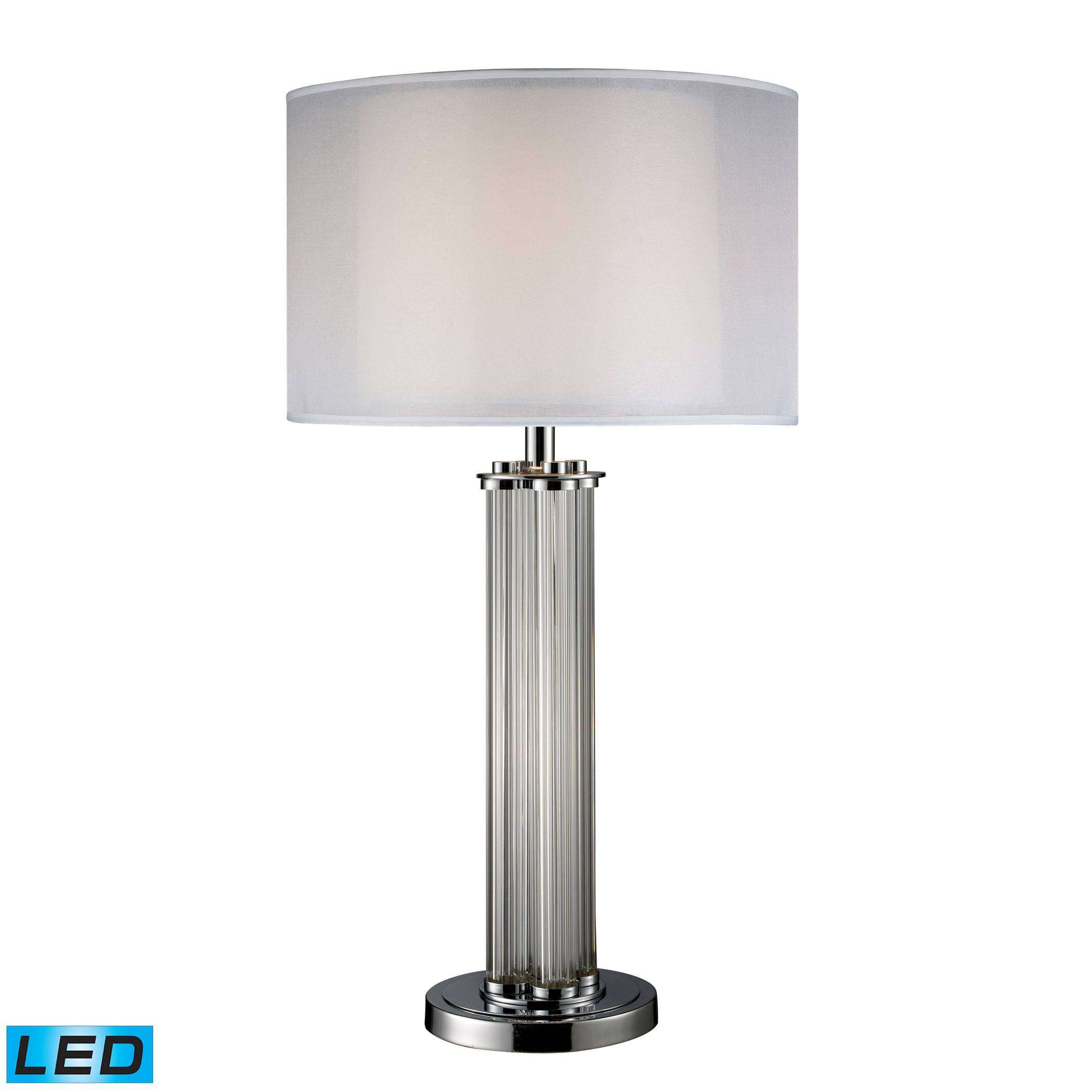 Hallstead Table Lamp In Chrome With Led Bulb