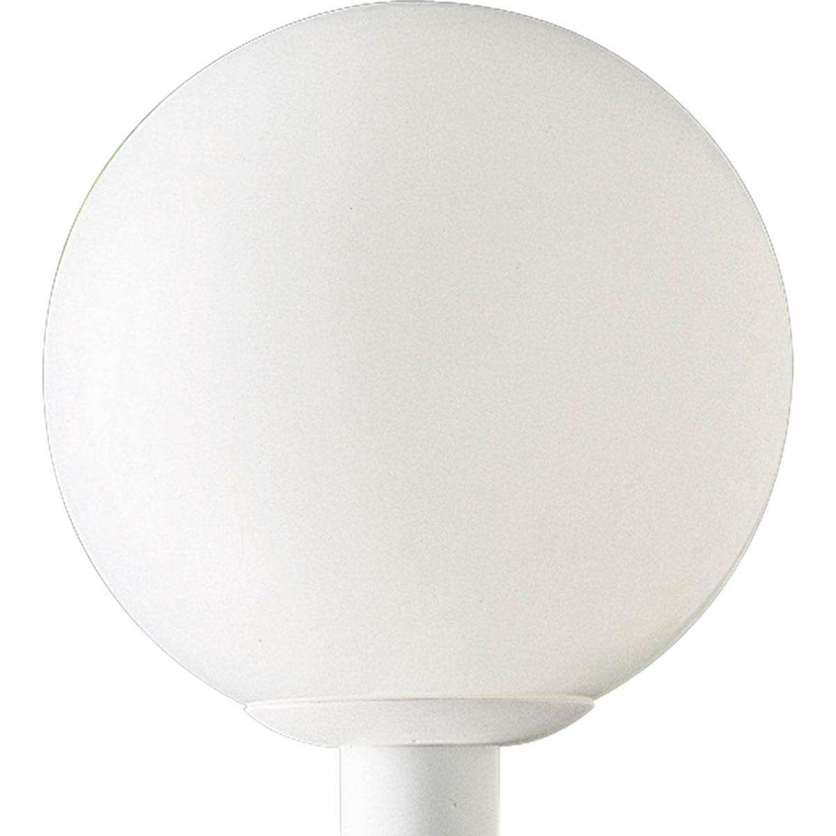 Progress P5426-60 One-light post lantern in White finish with opal white acrylic glass.