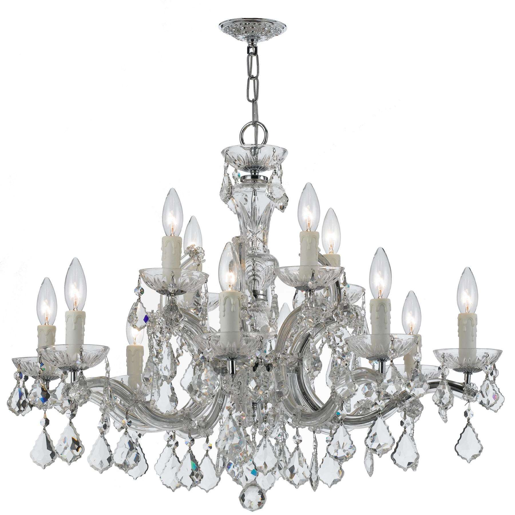 Maria Theresa 12 Light Clear Crystal Chrome Chandelier I