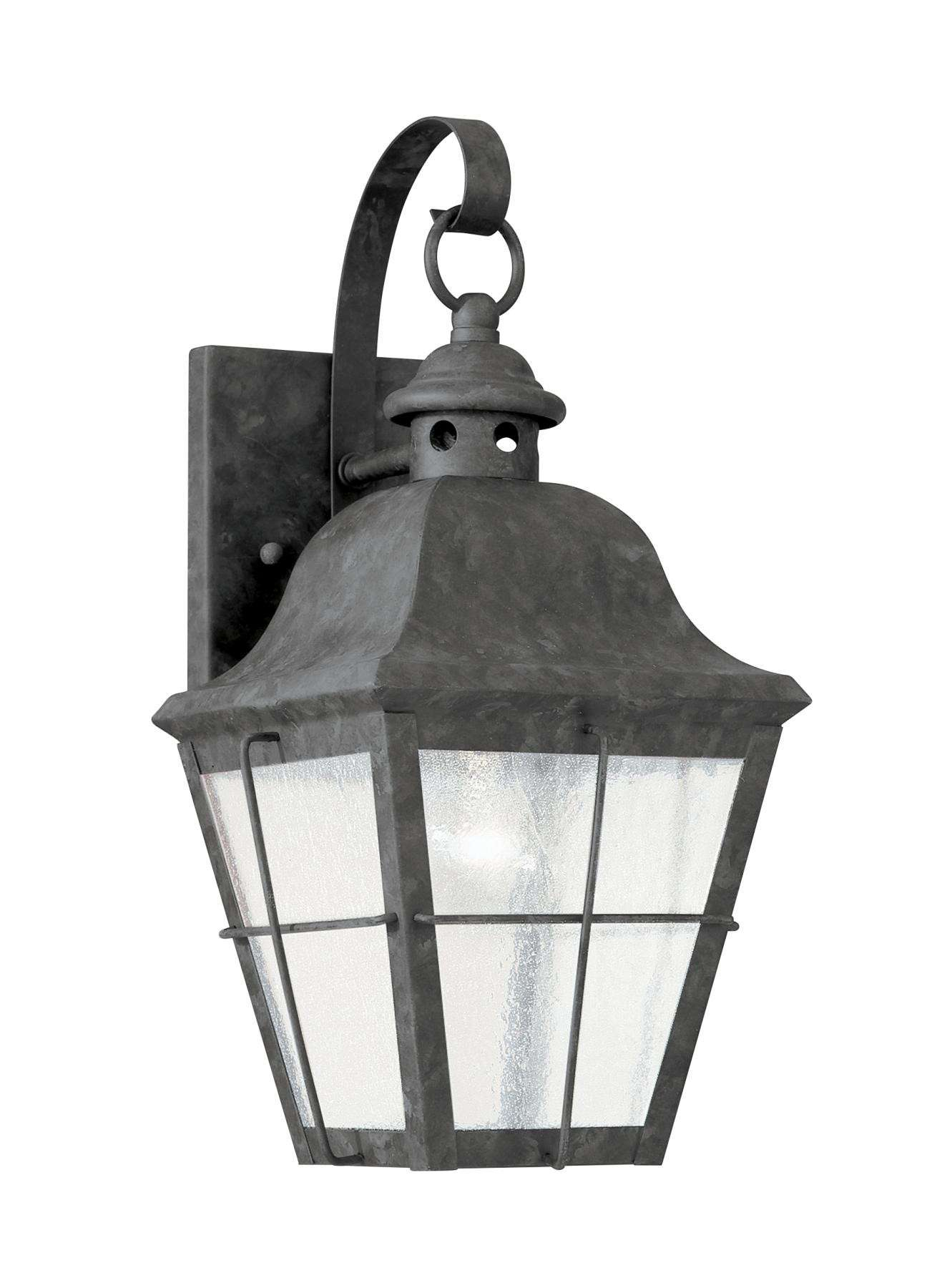 Seagull Lighting 8462-46 Single-Light Chatham Outdoor Wall Lantern in Oxidized Bronze finish