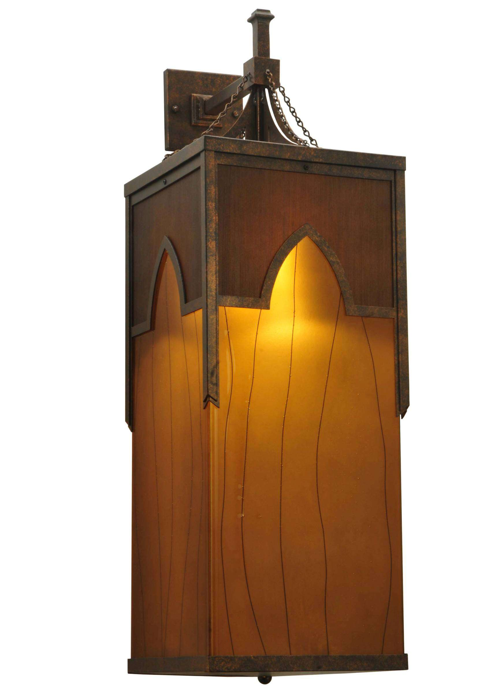 Meyda Tiffany 125515 Cordoba Fused Glass Wall Sconce in Gilded Tobacco finish