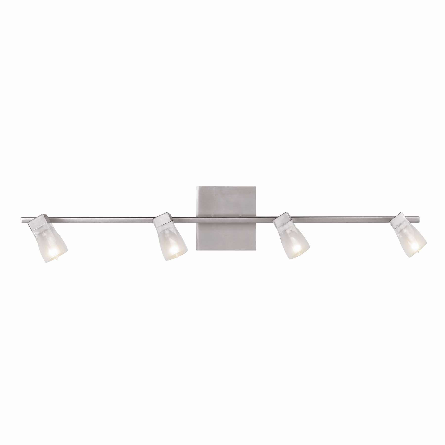 Access Lighting 52144-BS/FCL Ryan Bar Wall Fixture in Brushed Steel finish with Inner Frosted Crystal glass