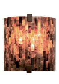 Tech Lighting 700WSESXPBZ-CF 1-light Essex Wall fixture in Antique Bronze with Brown Shell shade(s); ADA compliant