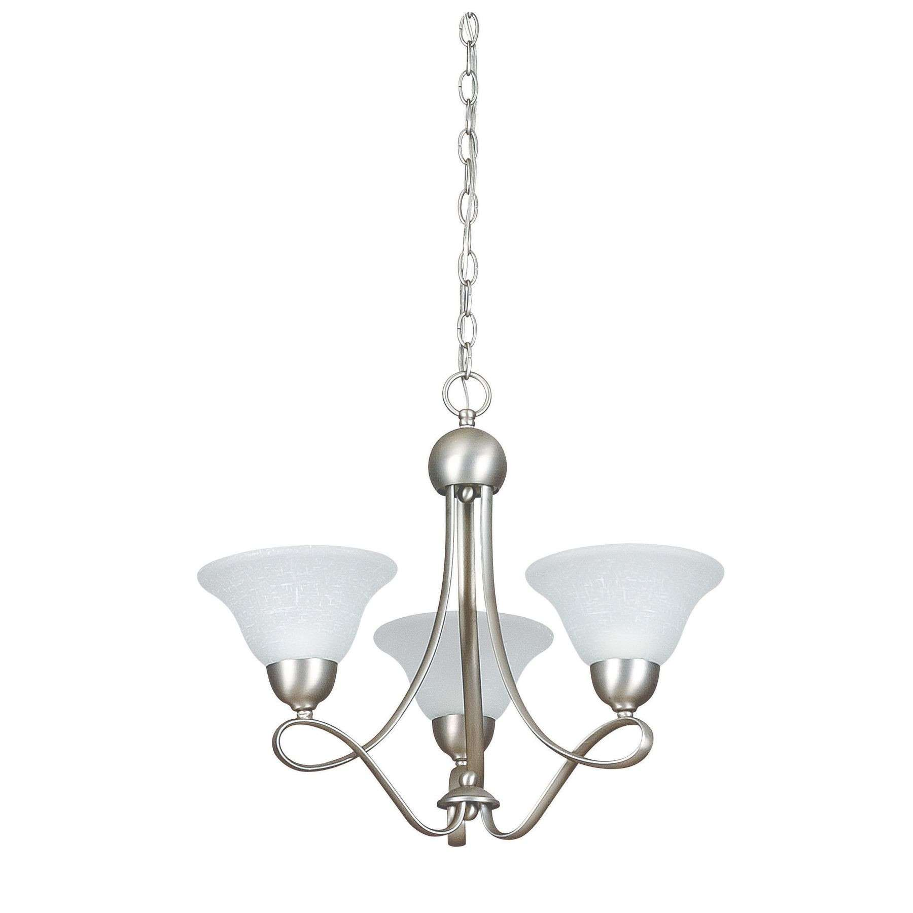 Sunset Lighting F2593-53 18-1/4 inch 3-light Palisades Chandelier in Satin Nickel Finish