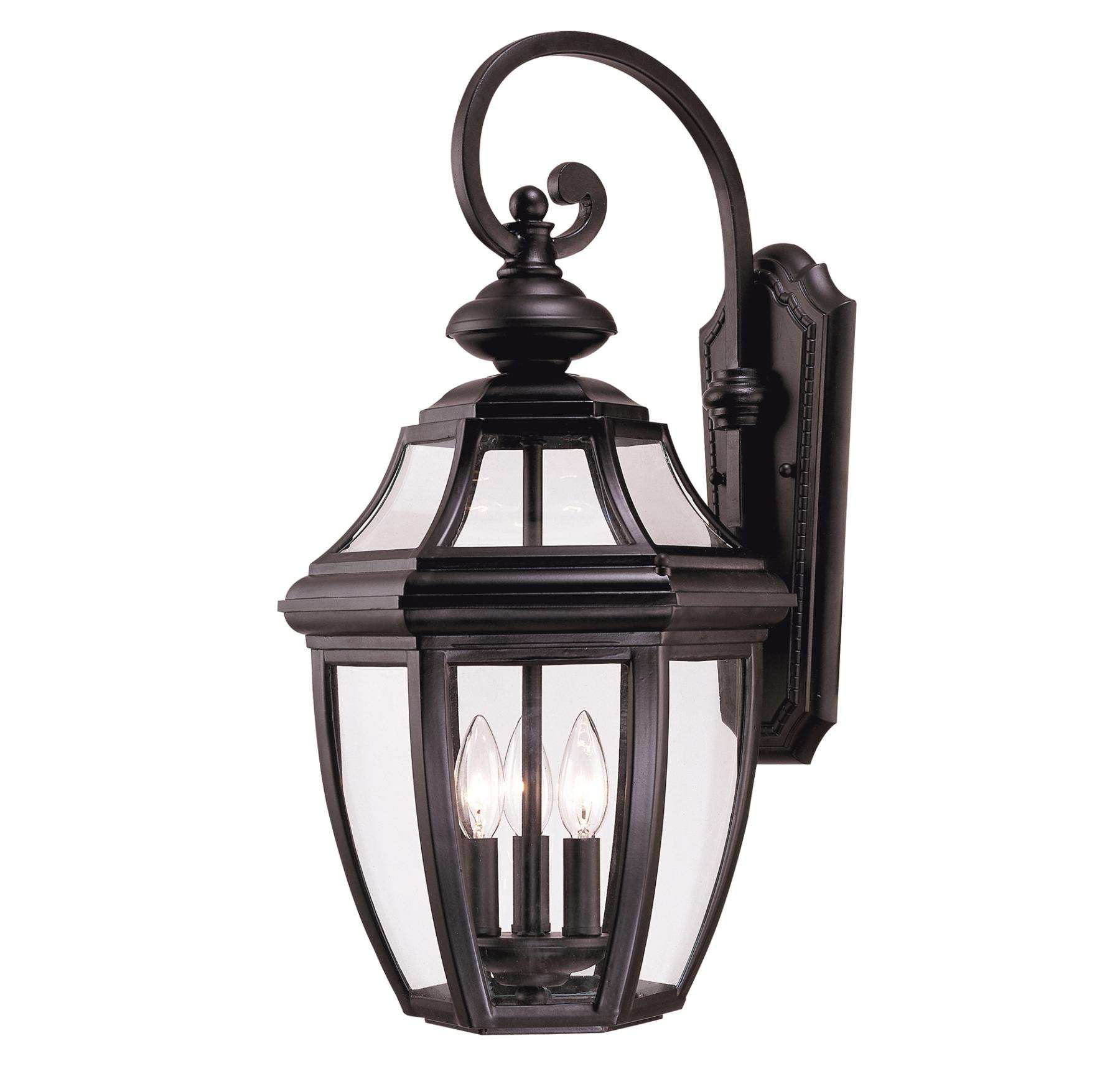 Savoy House 5-493-BK Endorado Wall Mount Lantern in Black Finish with Clear glass
