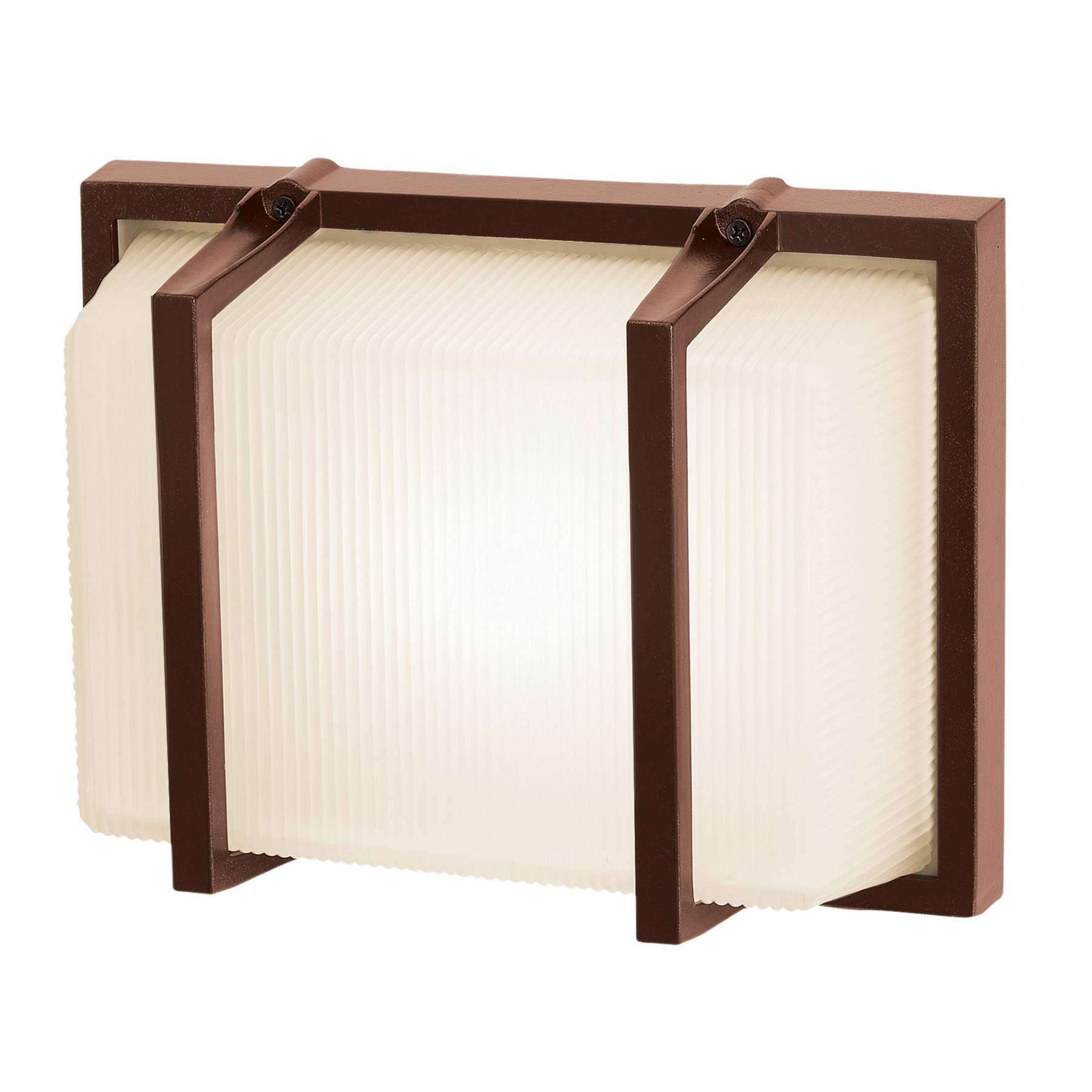 Access Lighting 20335MG-BRZ/RFR Neptune Wet Location Wall Fixture in Bronze finish with Ribbed Frosted glass