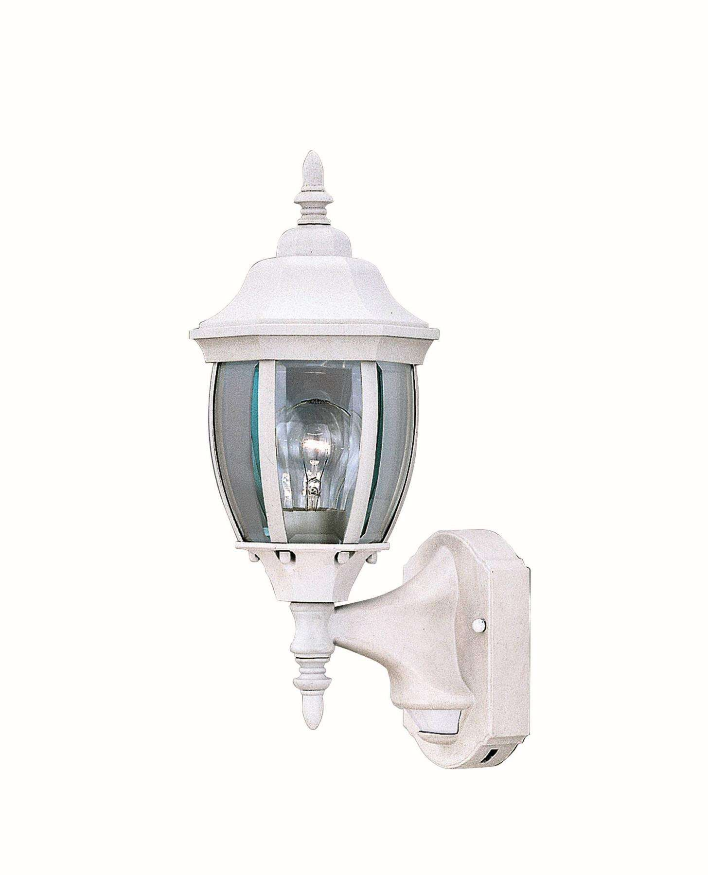 "Designers Fountain 2420MD-WH Tiverton 6 1/2"" Wall Lantern MD in White finish with Clear glass"