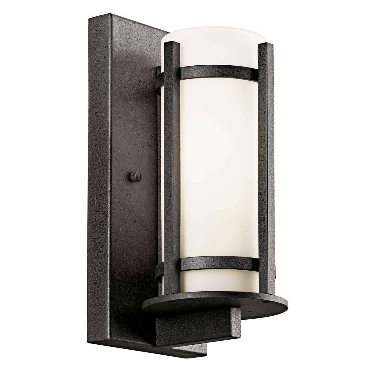 Kichler 49119AVIFL Outdoor Wall 1Lt Fluorescent in Anvil Iron. ENERGY STAR qualified light fixture