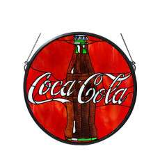 Meyda Tiffany 106226 Coca-Cola Button Medallion Stained Glass Window