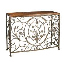 Sterling Furnishings 51-0673 Floral Scroll Console