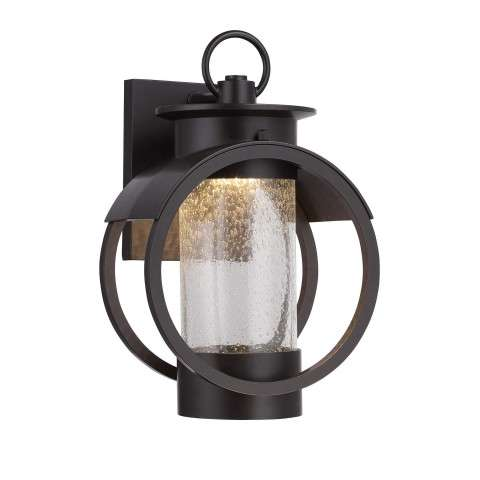 "Arbor LED 9"" Wall Lantern in Burnished Bronze Finish"