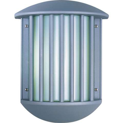 Zenith II Wall Sconce in Platinum w/White Shade