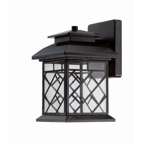 "Woodmere 8 1/2"" LED Wall Lantern in Oil Rubbed Bronze with Clear Shade(s)"