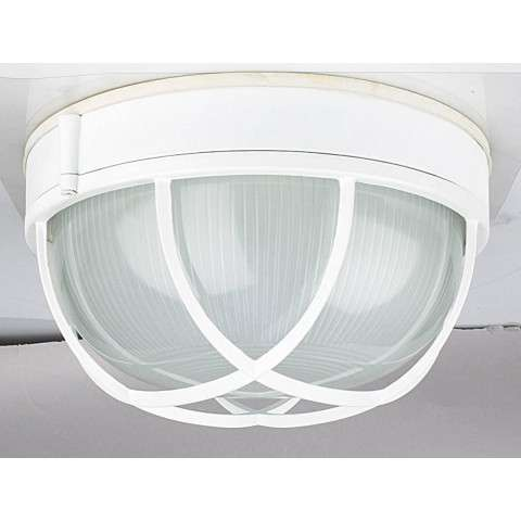 Sunset Lighting F7987-30 10 inch Round Bulkhead in White Finish