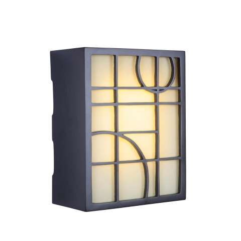 Teiber Chimes Led Hand Carved Geometric W/Frosted Glass 2 Note Chime In Oiled Bronze