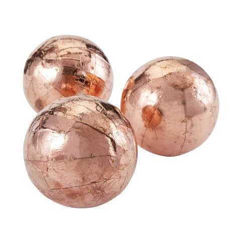 Copper Metallic Orbs