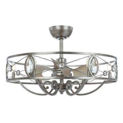 Maxim 60013SM Solitaire 6-Light LED Fandelier in Silver Mist