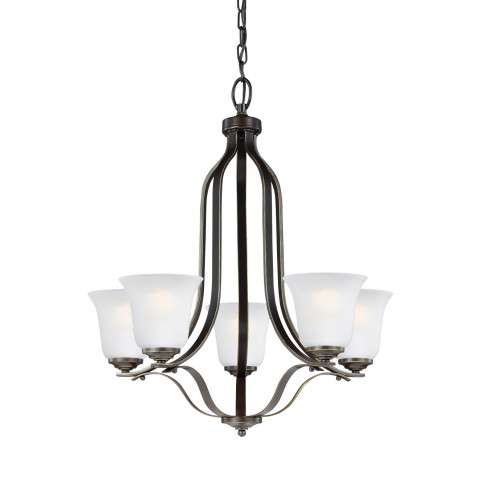 Emmons - Five Light Chandelier in Heirloom Bronze