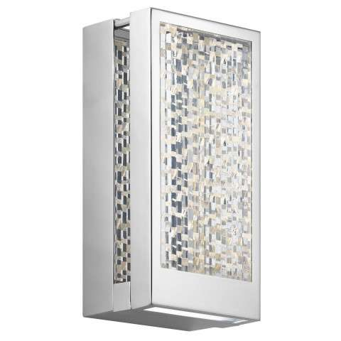 Pandora LED 1-Light ADA Sconce in CH - Chrome
